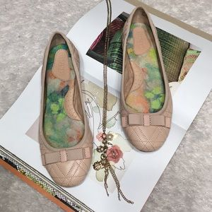 BORN ballet flat bow nude pink 6.5